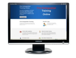 Online fire extinguisher training
